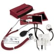 Prestige Medical® Sprague-Rappaport/Aneroid Sphygmomanometer Nurse Kit, Burgundy, Adult