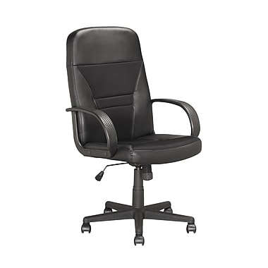 CorLiving™ Workspace Leatherette/Mesh Executive Office Chair, Black