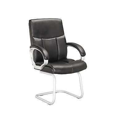 CorLiving™ Workspace Leatherette Conference Chair, Black, 2/Set