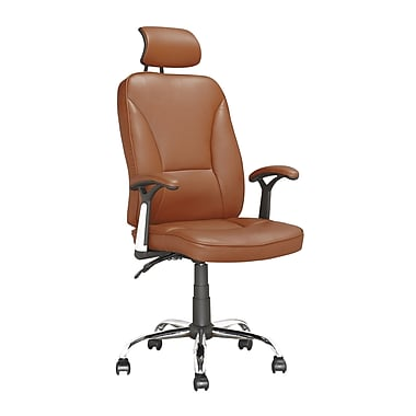 Corliving Executive Office Chair With Headrest, Light Brown Leatherette