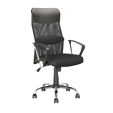 Corliving Executive Mesh Office Chair, In Black Leatherette