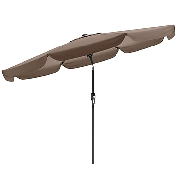CorLiving™ 3m Octagonal Patio Umbrella With Air Vents, Sandy Brown Polyester