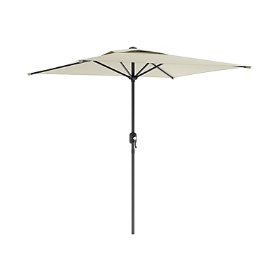 CorLiving™ 2m Square Patio Umbrella With Air Vents, Warm White Polyester