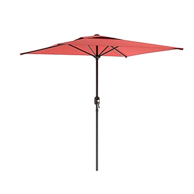Corliving Square Patio Umbrella, Wine Red