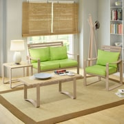 CorLiving™ Aquios Bentwood/Cushion Fabric 5-Piece Living Room Set, Apple Green