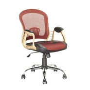 CorLiving™ Workspace Leatherette/Fabric Executive Office Chair, Black/Red