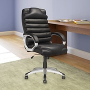 CorLiving™ Workspace Leatherette Executive Office Chair With Padded Arms, Black
