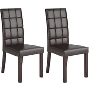CorLiving™ Atwood Leatherette Dining Chair, Dark Brown