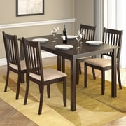 "CorLiving™ Atwood 55"" Hardwood/Wood Stained 5-Piece Dining Set W/Microfiber Seat, Cappuccino/Beige"