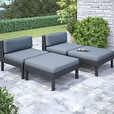 Corliving Oakland 4 Piece Lounger Patio Set