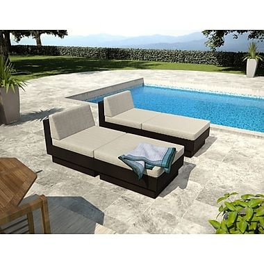 Sonax Park Terrace 4 Piece Lounger Patio Set, Black Textured