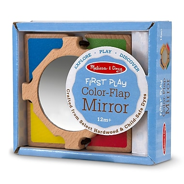 Melissa & Doug Wood Color Flap Mirror