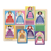 Melissa & Doug Sturdy Wooden Peek Through Princesses Pattern Puzzle