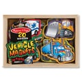 Melissa & Doug Wood Wooden Vehicle Magnets 8in.