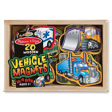 Melissa & Doug Wood Wooden Vehicle Magnets 8