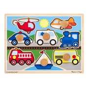 Melissa & Doug 8 Piece Wooden Vehicles Jumbo Knob Puzzle