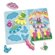 Melissa & Doug Sturdy Wooden Fairy Dress Up Chunky Puzzle 12in.