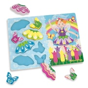 Melissa & Doug Sturdy Wooden Fairy Dress Up Chunky Puzzle 12""