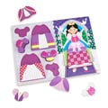 Melissa & Doug Sturdy Wooden Princess Dress-Up Chunky Puzzle