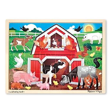 Melissa & Doug Wooden Barnyard Jigsaw 24 Pieces