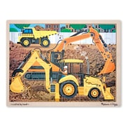 Melissa & Doug Wooden Construction Jigsaw 24 Piece