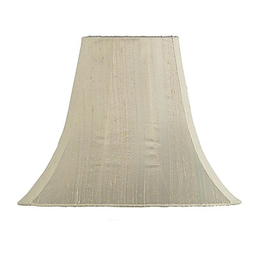 Jubilee Collection 12'' Silk Bell Lamp Shade; Taupe