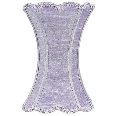 Jubilee Collection 7.25'' Dupioni Silk Hourglass Scallop Lamp Shade; Lavender