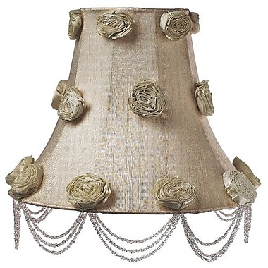 Jubilee Collection 12'' Silk Bell Lamp Shade; Ivory