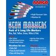 AARCO Neon Dry Erase Makers (Set of 6)