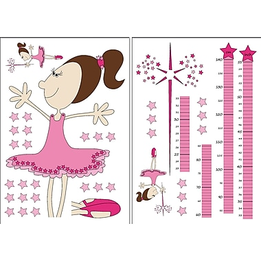 Brewster Home Fashions 39 Piece Euro Fairy Growth Chart Set