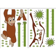 Brewster Home Fashions 36 Piece Euro Monkey Growth Chart Set