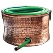 Deeco Steel Copper Plated Hose Holder/Storage Pot