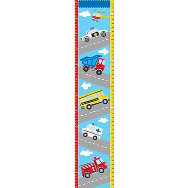 WallPops! Wall Art Kit Transportation Growth Chart