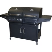 CharBroil 2-in-1 Charcoal and 3-Burner Gas Deluxe Combo Grill w/ Side Burner