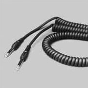 Signal Flex Electronics Coiled Black Cable with Molded Ends