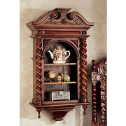 Design Toscano Charles II Wall Curio Cabinet
