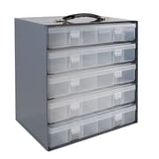 Durham Manufacturing Rack for 5 Large Plastic Compartment Boxes