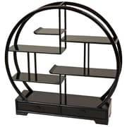 Oriental Furniture Mingei Display Stand; Dark Rosewood