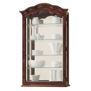 Howard Miller Vancouver II Wall-Mounted Curio Cabinet; Cherry