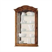 Howard Miller Vancouver II Wall-Mounted Curio Cabinet; Oak