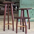 Aaron Poritz LLC 3 Piece Alba Stool Set; Nogal