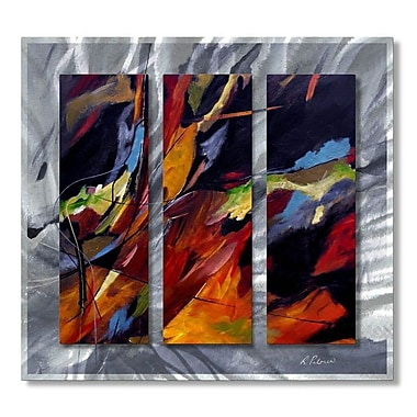 All My Walls 'Colors Dance' by Ruth Palmer 3 Piece Painting Print Plaque Set