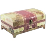 Cottage Garden Belle Papier Vintage Trunk Music Box; Amazing Grace