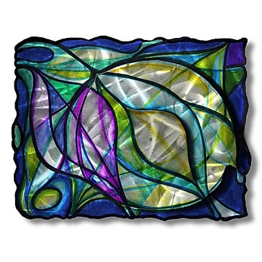 All My Walls 'Stained Swirls' by Ash Carl Graphic Art Plaque