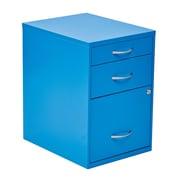OSP Designs 3-Drawer Metal File Cabinet; Blue