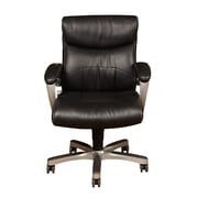 PRI DS-1942-452-4 Sealy Leather Task Chair with Fixed Arms, Black