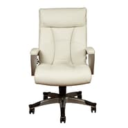 PRI High Back Bone White Bonded Leather & PVC Chair
