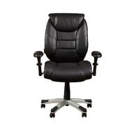 PRI Memory Foam Bovina Black Bonded Leather & PVC Office Chair