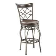 PRI Swivel Bar Powder Coated Metal, Birchwood, Bonded Leather Stool