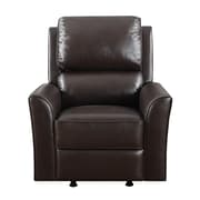 PRI 40 Wood, Foam & Bonded Leather Rocker Recliner - Chocolate